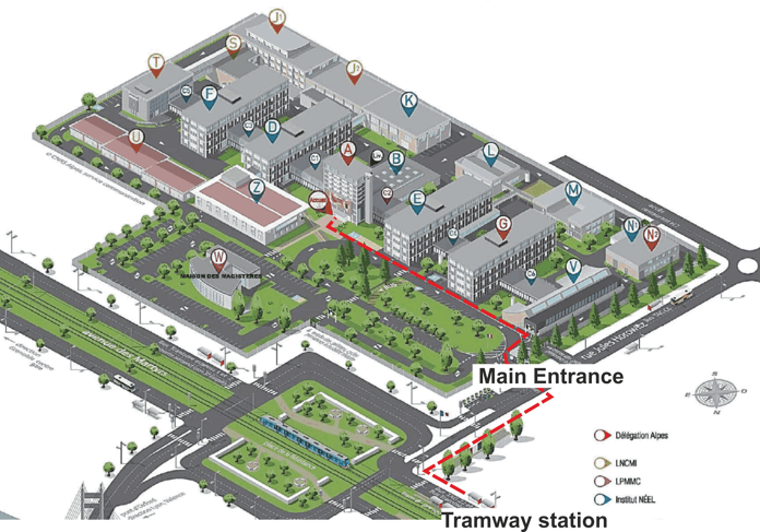 CNRS campus map
