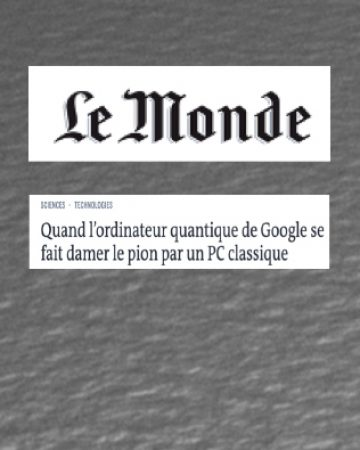 Article in French major newspaper